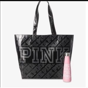 New VS PINK S'WEll Water Bottle Reusable Tote Bag